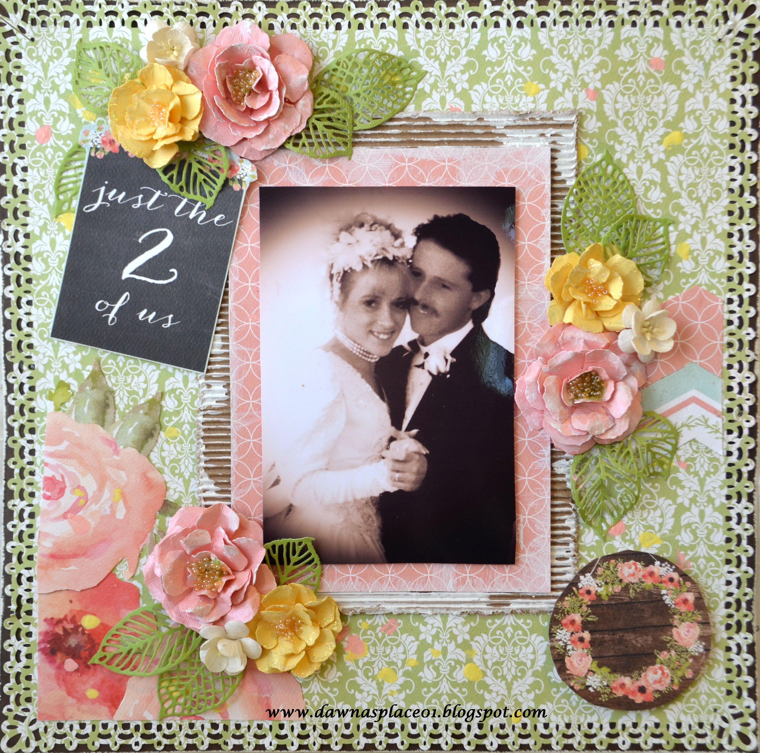 First Dance Wedding Layout Anniversary Scrapbook Wedding Scrapbook Wedding