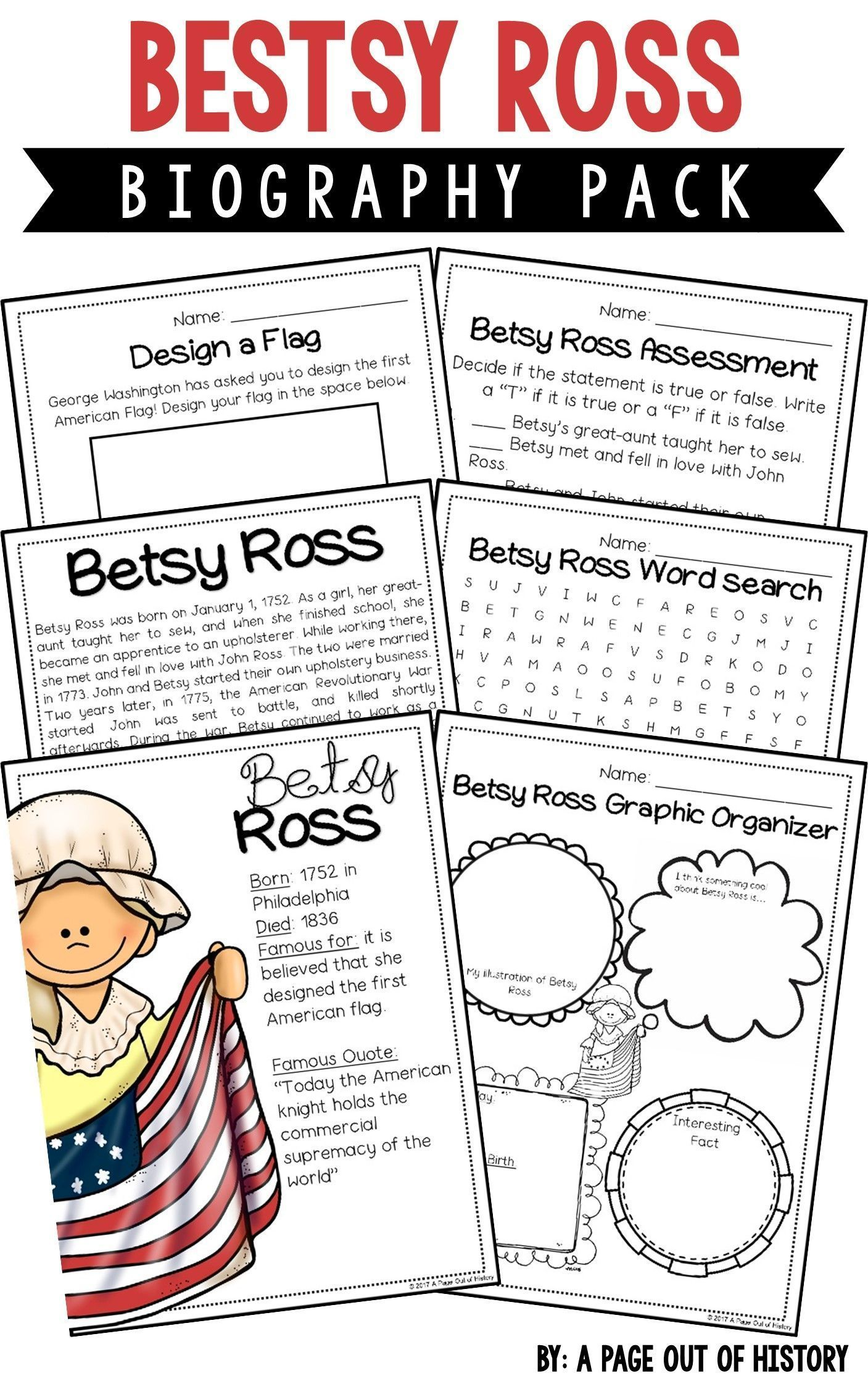 Betsy Ross Biography Pack Revolutionary Americans
