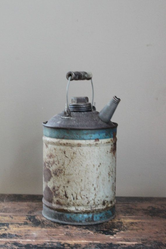 Vintage Rustic Oil Can by MyVintageLane on Etsy, $15 00