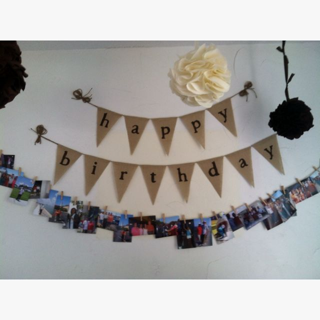Birthday banner for Dad's 60th! - cute idea with the photos