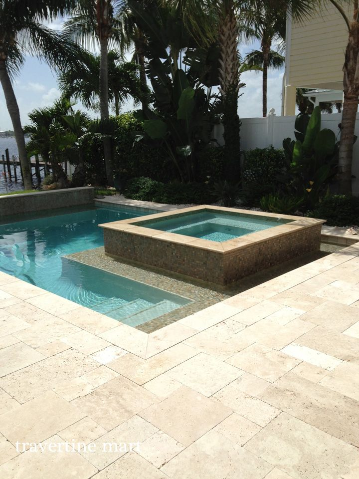Pin by travertine mart on travertine we love for Pool design pattern