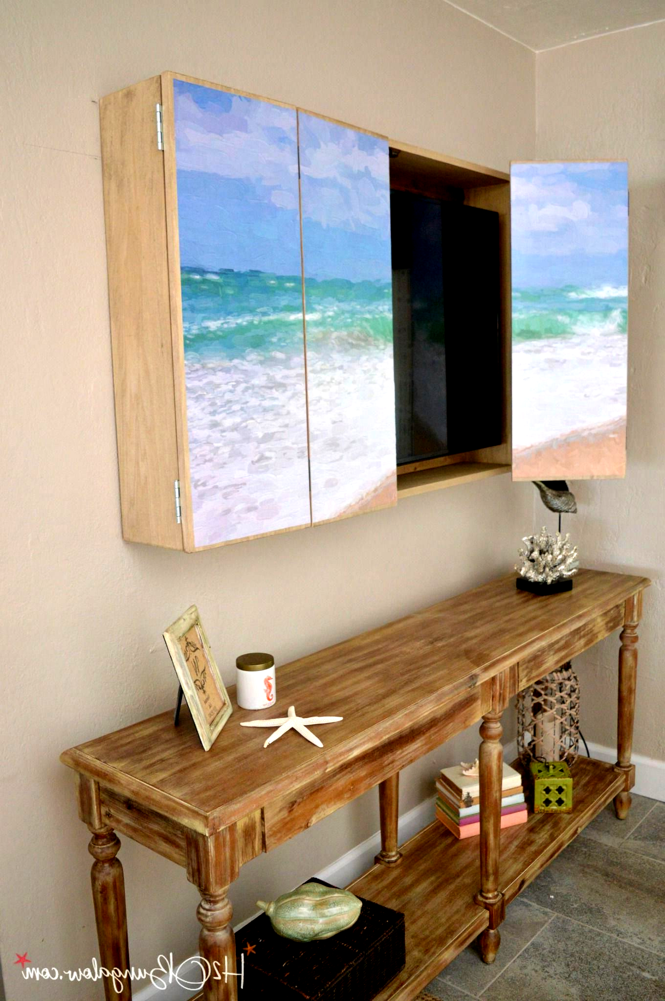 Free plans for a DIY wall mounted tv cabinet. Build a ...