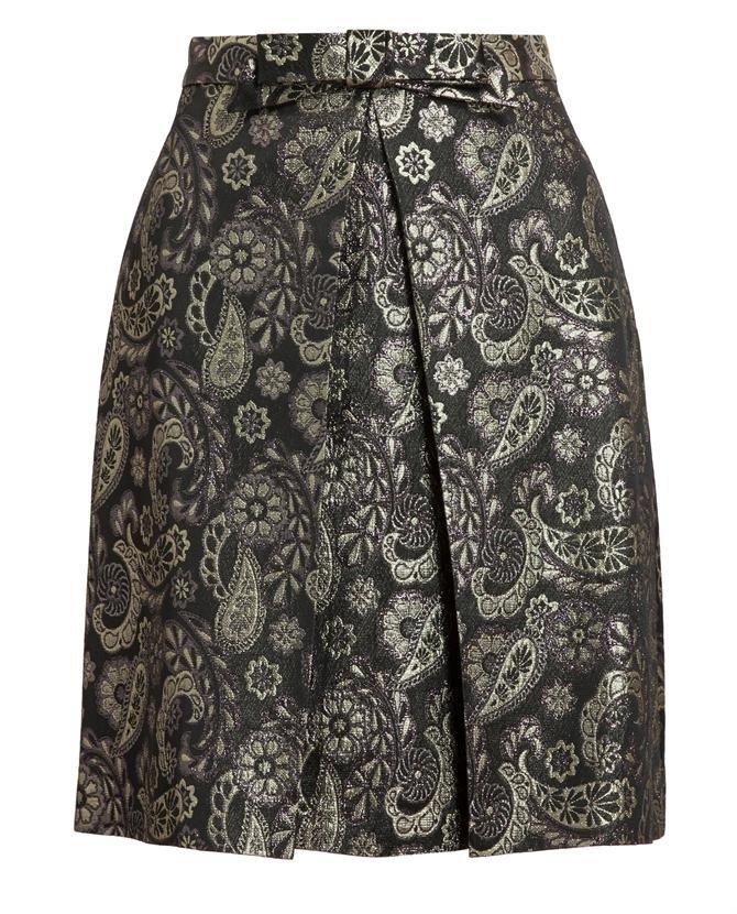 RAOUL   Floral Brocade A-Line Skirt
