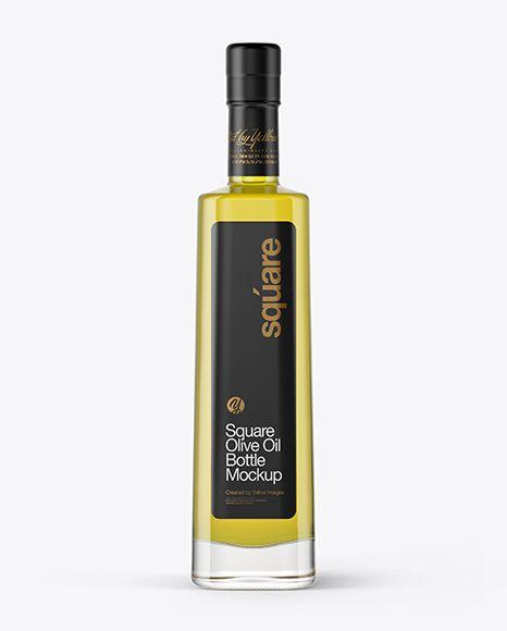 Clear Glass Olive Oil Bottle Mockup in Bottle Mockups on ...