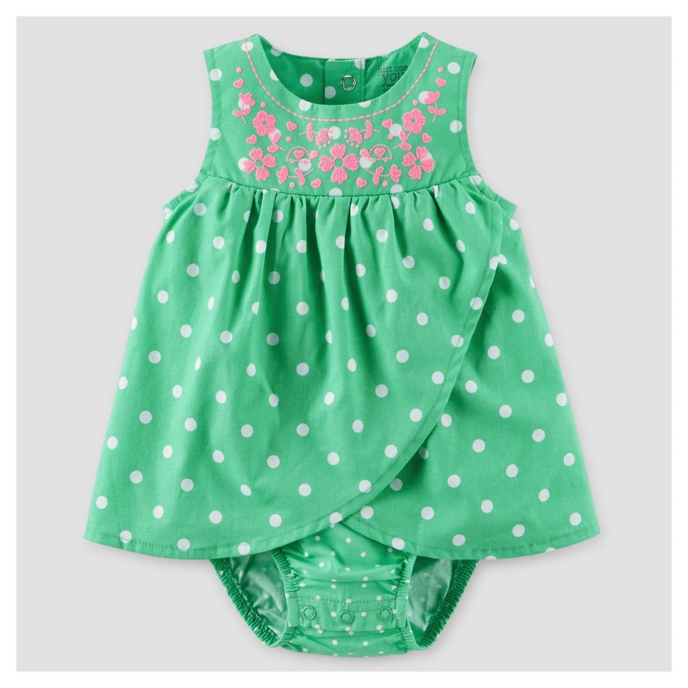 bad7be84d4 Baby Girls  Polka Dot Sunsuit Dress Green 24M - Just One You Made by  Carter s