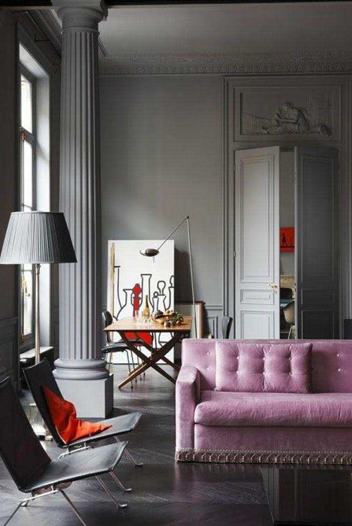 ▷ 1001 + idées déco originales pour le salon rose et gris | decor ...