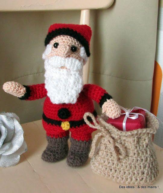 Des id es des mains p re no l au crochet crochet poup es amigurumis jouets - Sujets de noel au crochet gratuit ...