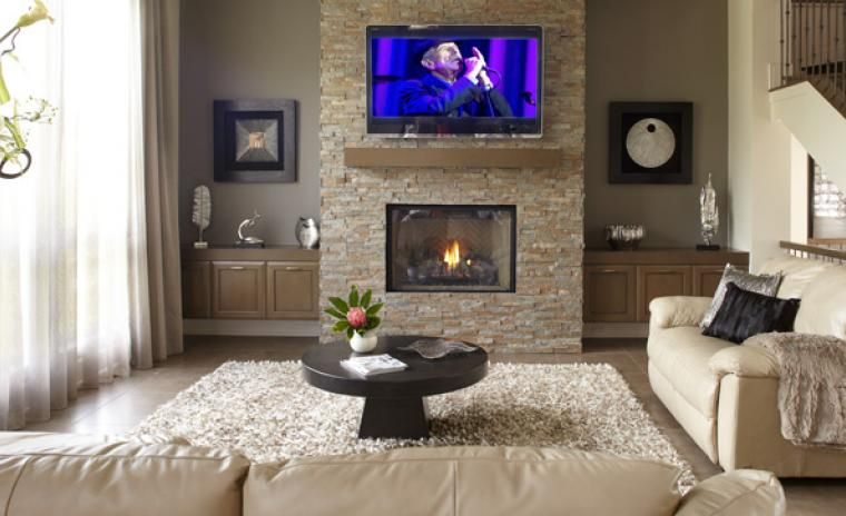 Le s jour maison d coration maison d co maison et d cor de mur de foyer - Decoration foyer salon ...