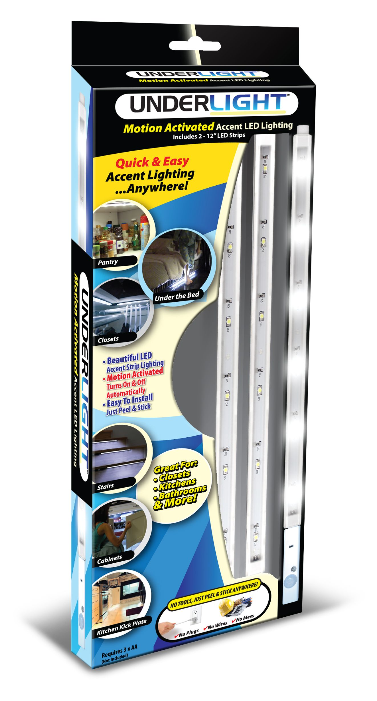 Underlight Led Battery Operated Under Counter Accent And Pathway Strip Lights