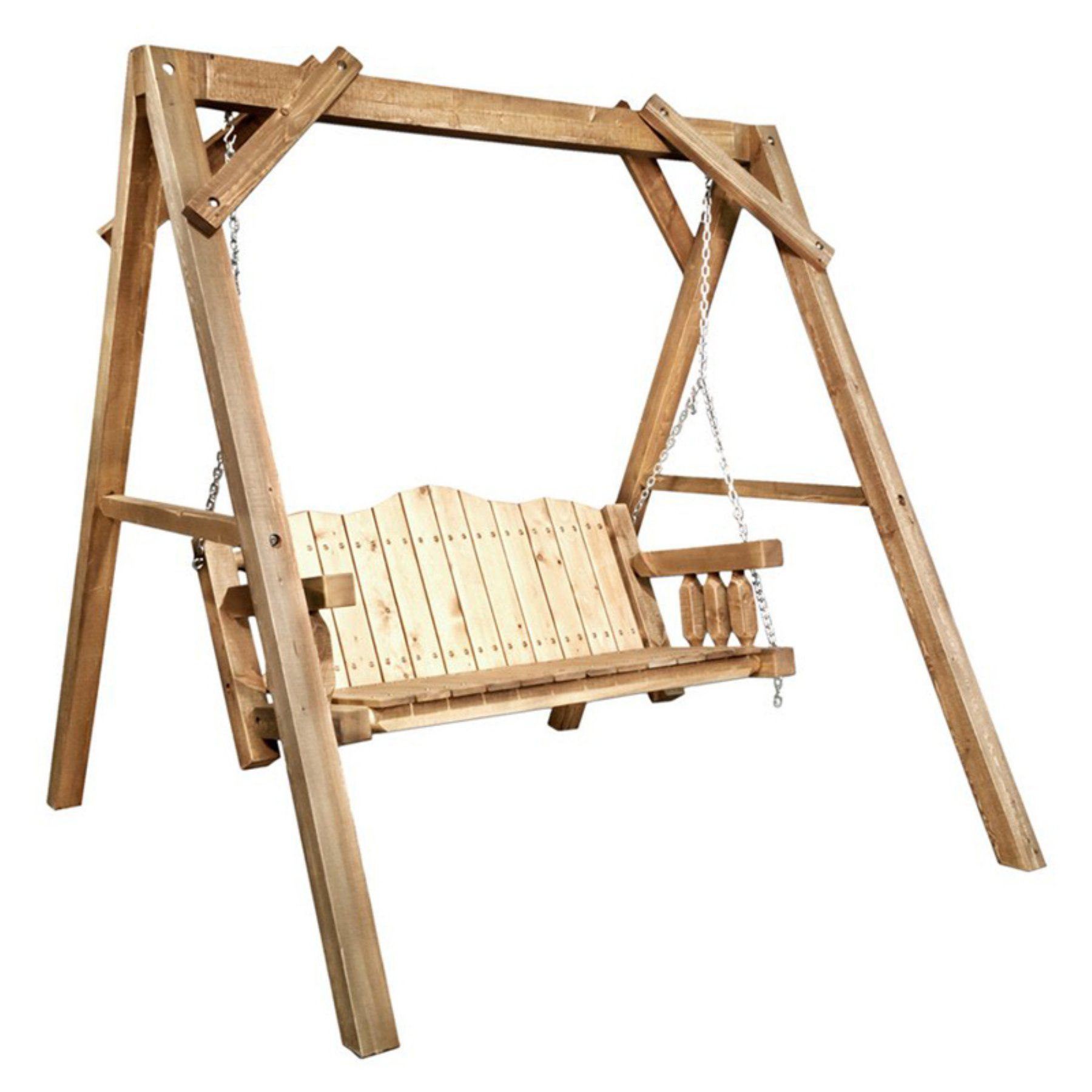 Montana Woodworks Homestead 4 ft. Lawn Swing with AFrame