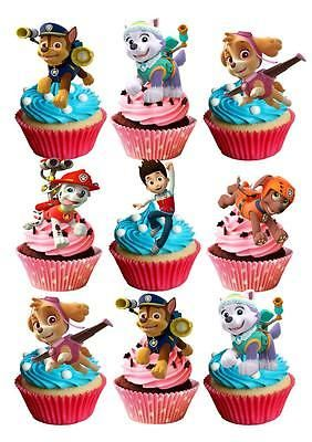 Happy Birthday  STAND UP Cupcake Fairy Cake Toppers Edible  Decorations