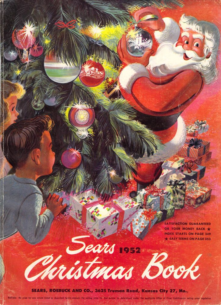 Christmas Catalogs.1952 Sears Christmas Catalog Christmas Books Vintage