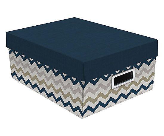 Caixa Organizadora Missoni Azul - 37X27cm