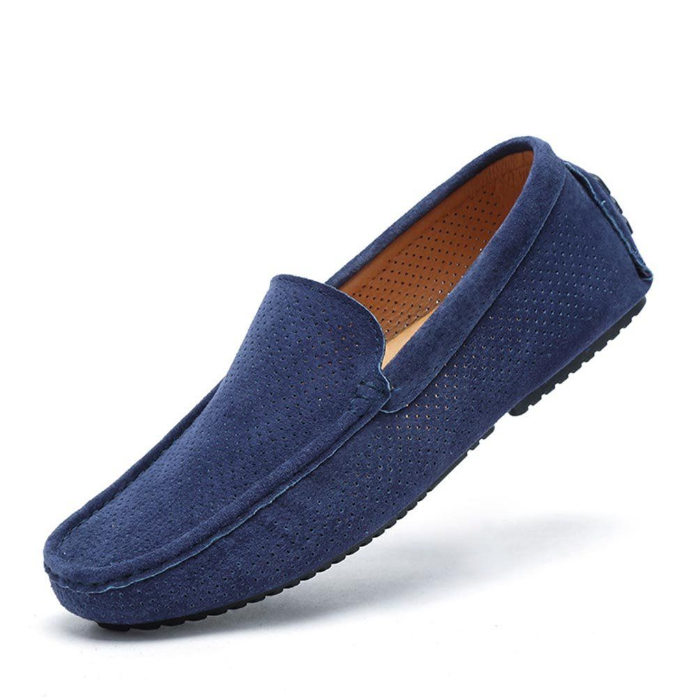 Mens Leather Loafers Casual Breathable Fashion Business Driving Boat Formal Shoes