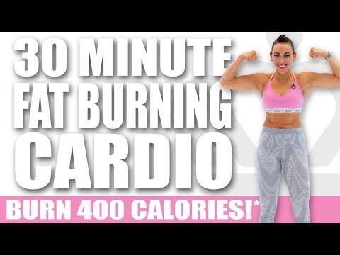 30 Minute Fat Burning Cardio No-Equipment Workout ????BURN 400 CALORIES!* ????Sydney Cummings - YouTube #cardioworkouts