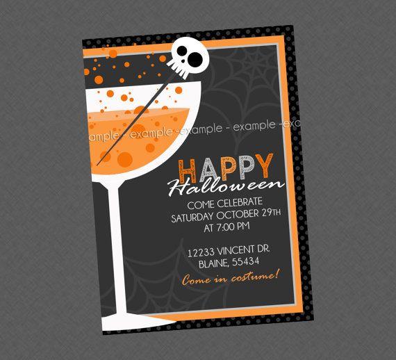 Adult Halloween Party Invitation on Etsy, $10.99
