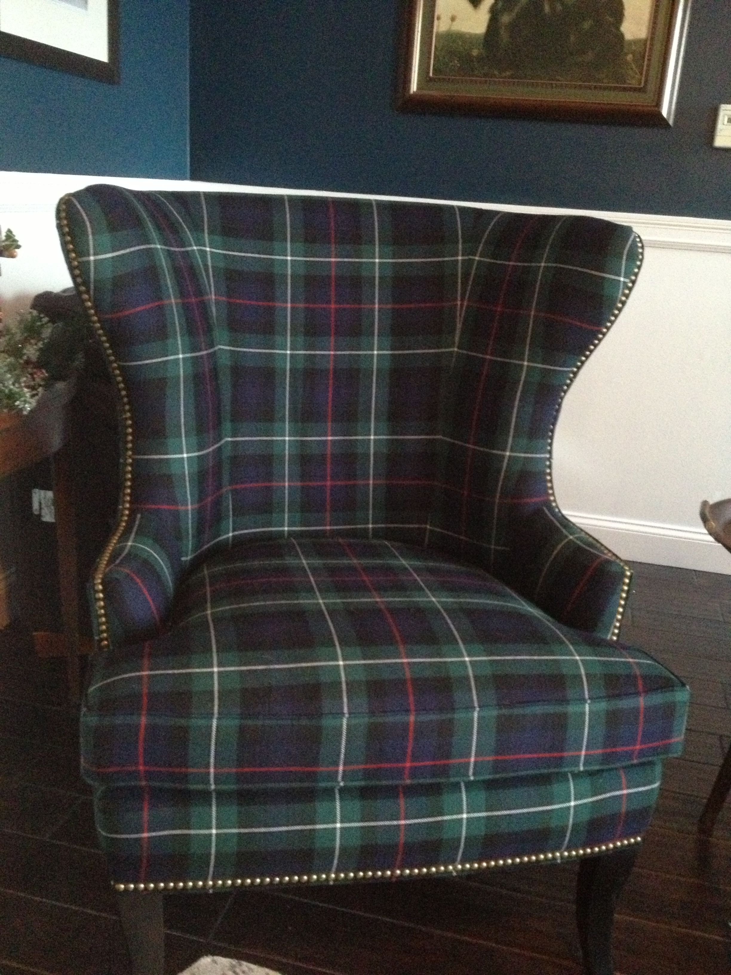 modern plaid wing chair custom ballard designs thurston wing custom ballard designs thurston wing chair plaid kilt fabric i