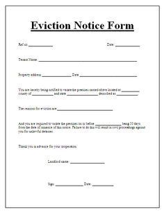 Blank Eviction Notice Form Free Word Templates Tenant Eviction - Blank legal forms