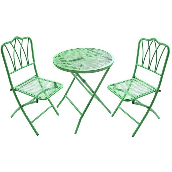 Green Wrought Iron Bistro Set 150 Liked On Polyvore