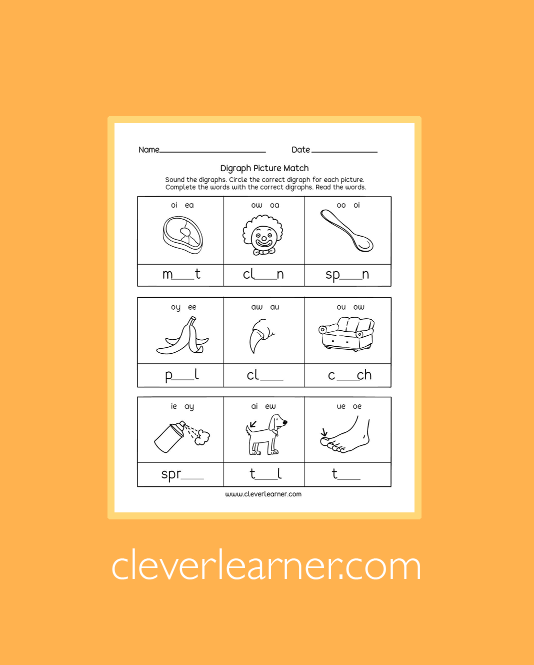Free Downloadable Sheets On Digraphs In