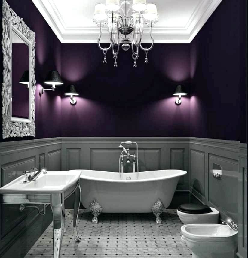 Gray And Purple Bathroom Purple And Grey Bathroom Ideas Grey And