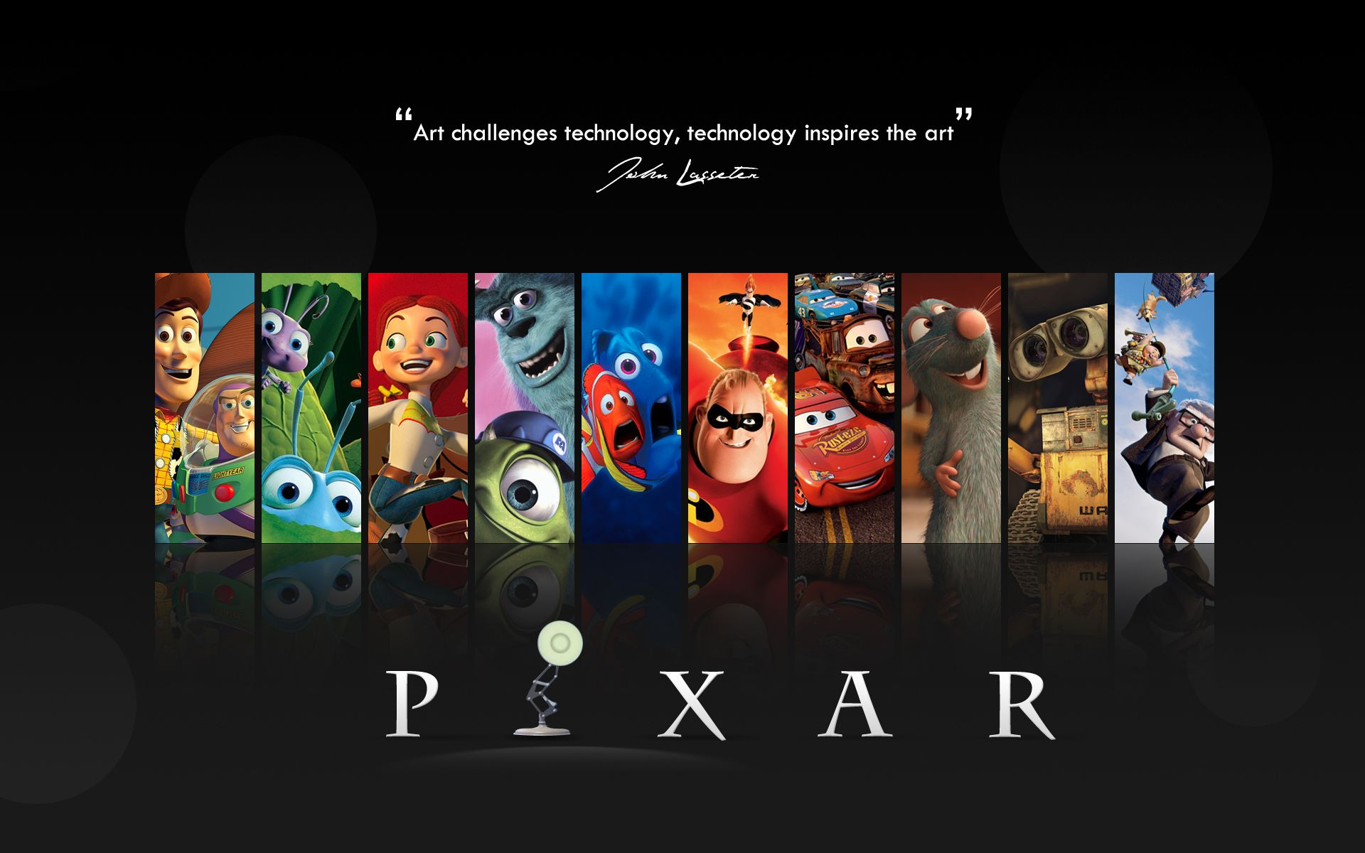 Pixar great wallpaper, great movies, lot's of creativity....