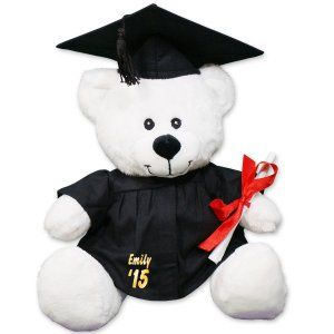 Personalized White Graduation Teddy Bear   8