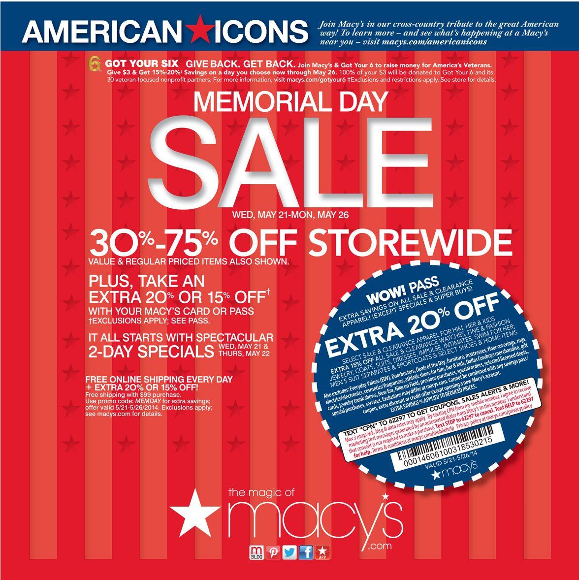 Macy's Veteran's Day Sale 2015 Veterans day discounts