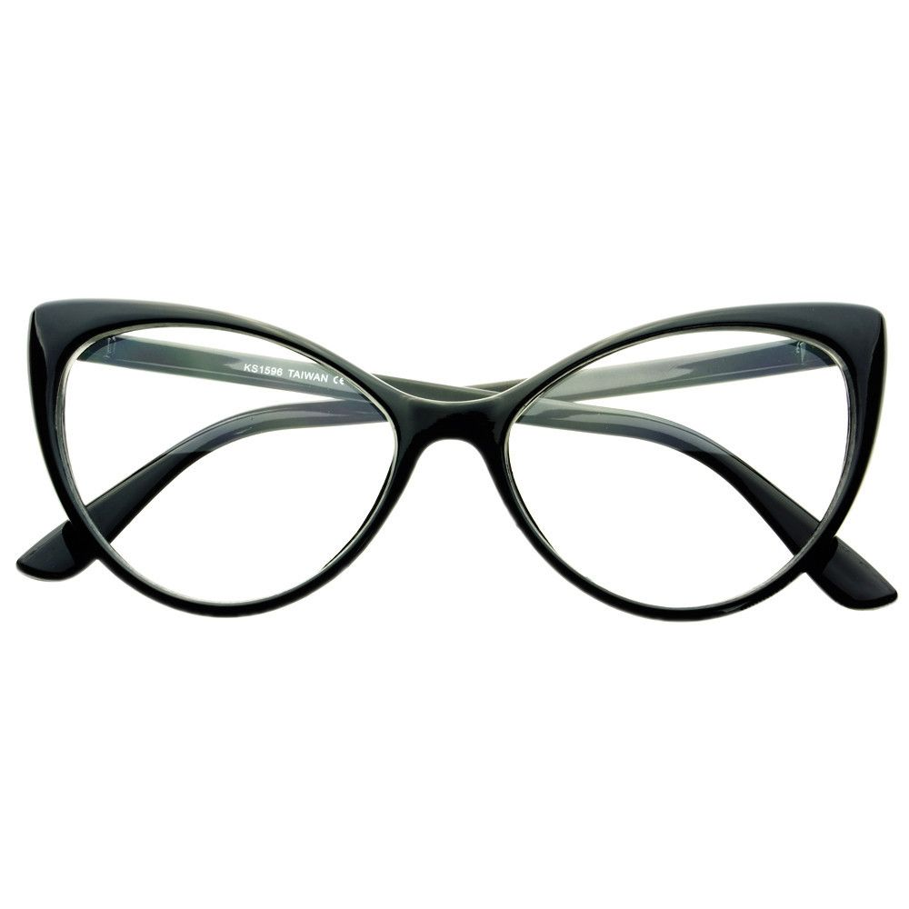 0264d8d227 Clear Lens Large Womens Retro Cat Eye Glasses Frames C76 – FREYRS - Beautifully  designed