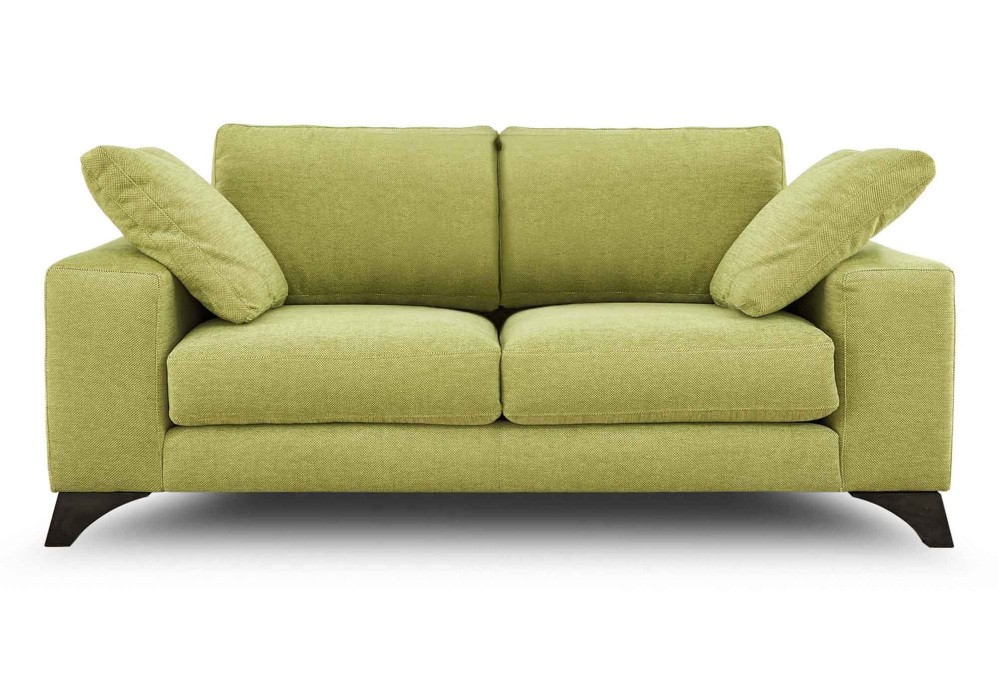 Lime green sofa le corbusier style lc3 sofa in leather for Lime green sofa
