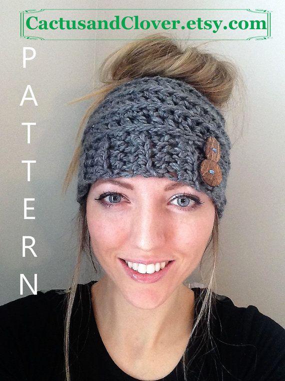 CROCHET PATTERN - Messy Bun Hat, Messy Bun Beanie Pattern, Ponytail Hat Pattern, Ribbed Beanie Pattern, Beehive Beanie Pattern, Beehive Hat #messybunhat