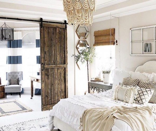 50 Sleigh Bed Inspirations For A Cozy Modern Bedroom: Modern Farmhouse Bedroom Design Ideas For Comfortable