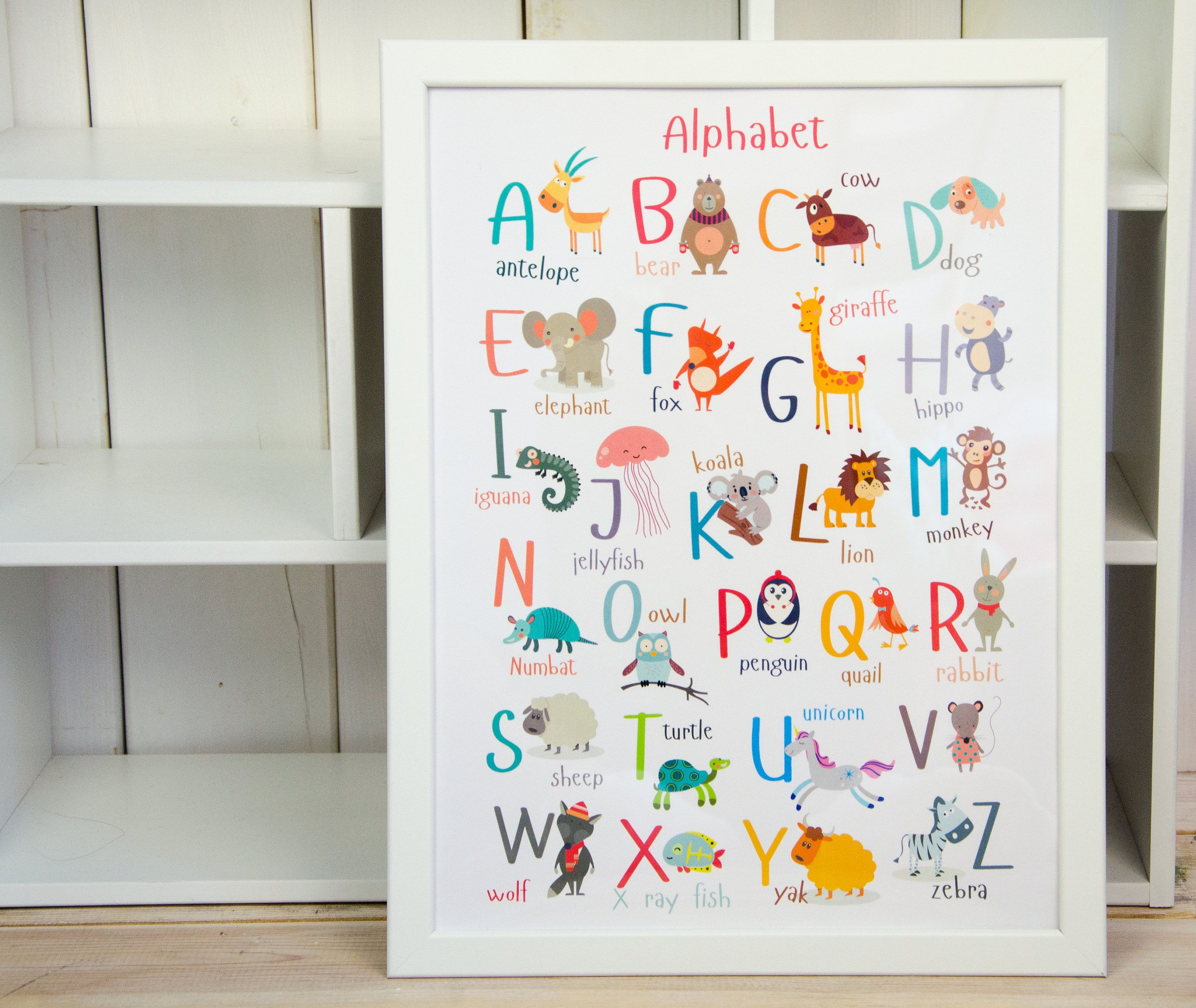 Wall Alphabet Print Animal Abc Poster Baby Nursery Animals Etsy In 2021 Kids Room Wall Art Alphabet Print Abc Wall Art