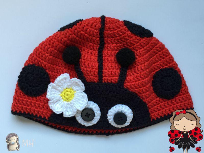 Gorro mariquita a crochet | Gorros tejidos | Pinterest