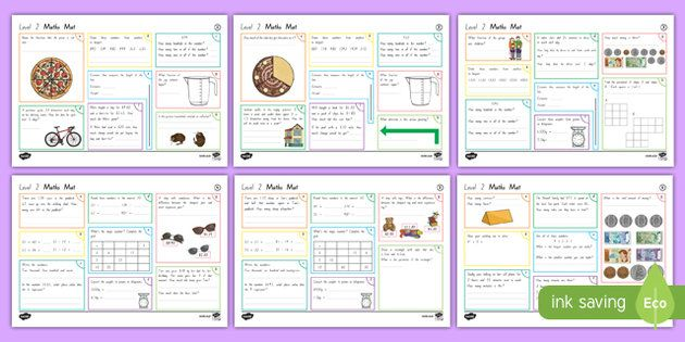 New Zealand Level 2 Maths Activity Mats | Maths/Numeracy ...