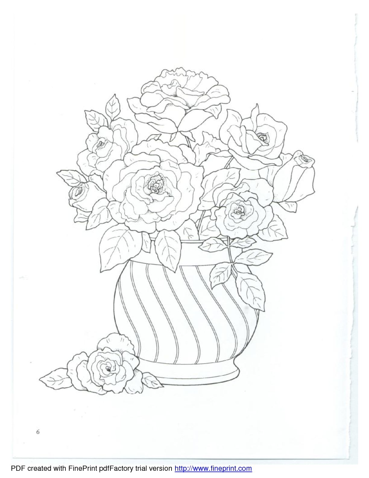 Dover Floral Bouquets Coloring Book Dover Coloring