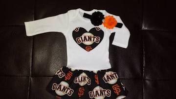 baby s.f giants newborn girls