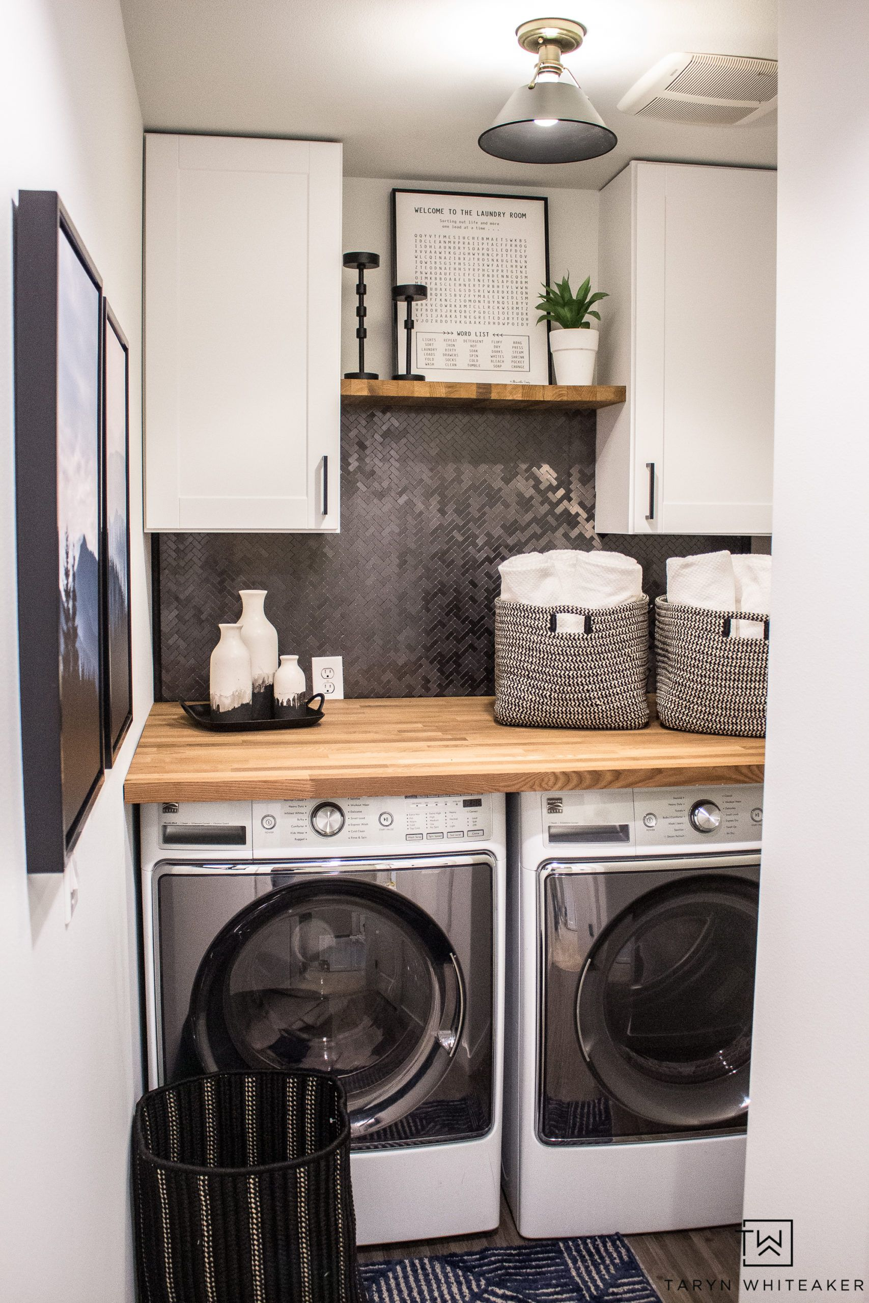 Small Laundry Room Makeover - Taryn Whiteaker in 11  Small