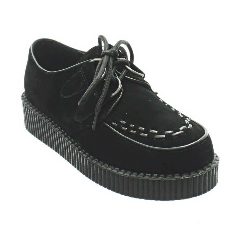 Details about WOMENS 1960'S BROTHEL CREEPER HI SOLE RETRO