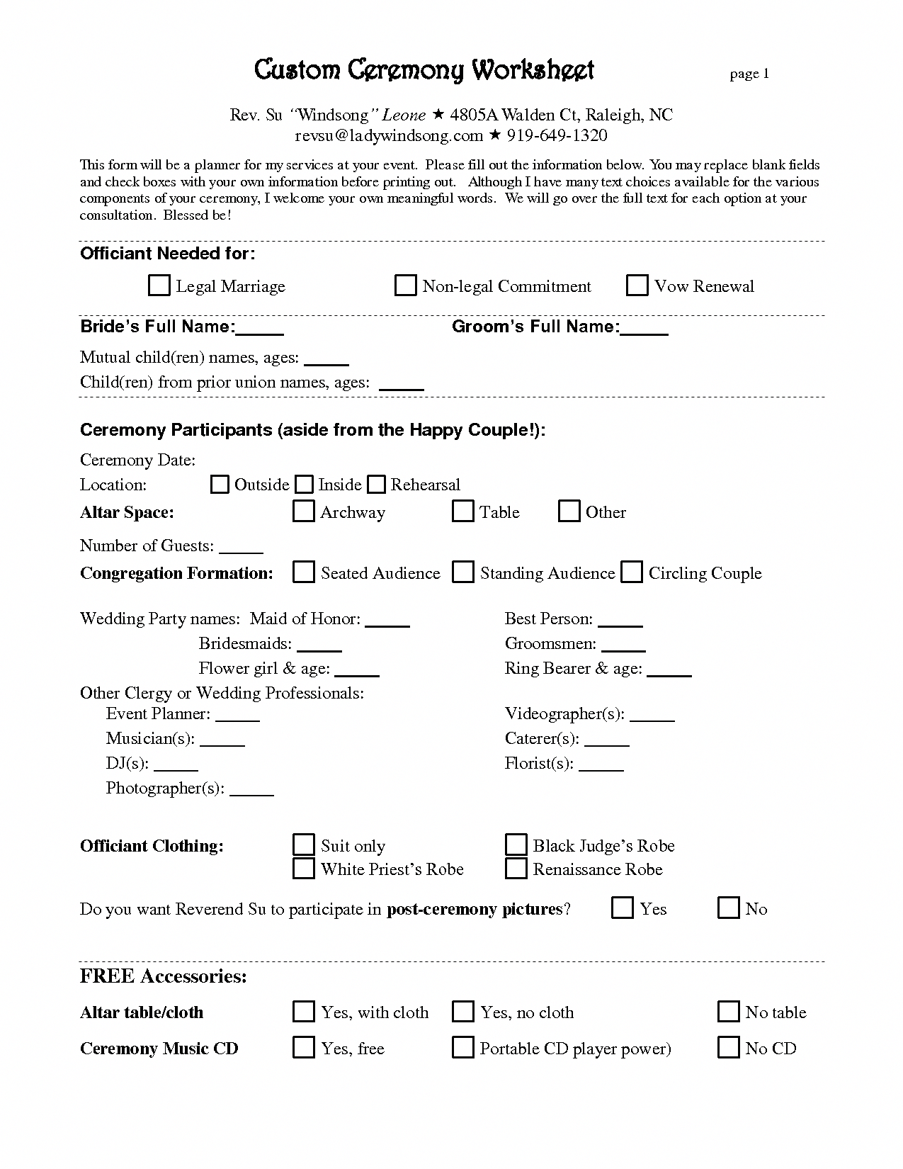 Free Wedding Planner Contract Template weddingcoordinator