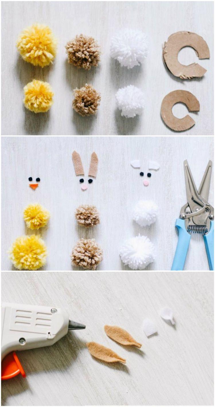 Basteln Mit Wolle Zu Ostern Niedliche Pompom Tiere Für