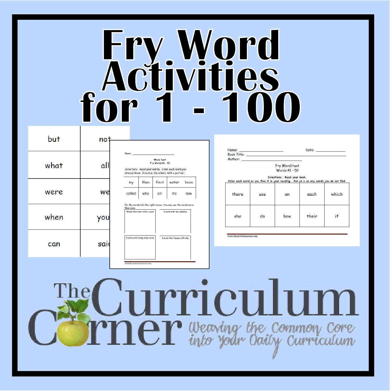 worksheet Fry Words Worksheets 1000 images about school fry words on pinterest sight word worksheets and site words