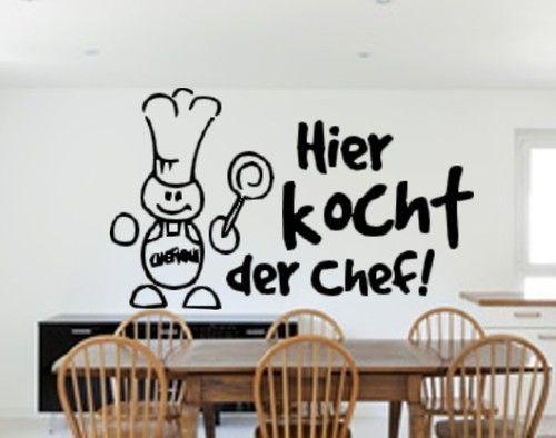 Wandtattoo Küche Hier Kocht Der Chef Sticker Wall | Wandtattoo