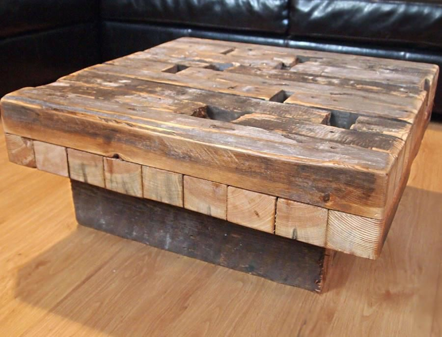 Wooden Square Coffee Table Reclaimed Wood Tables Uk