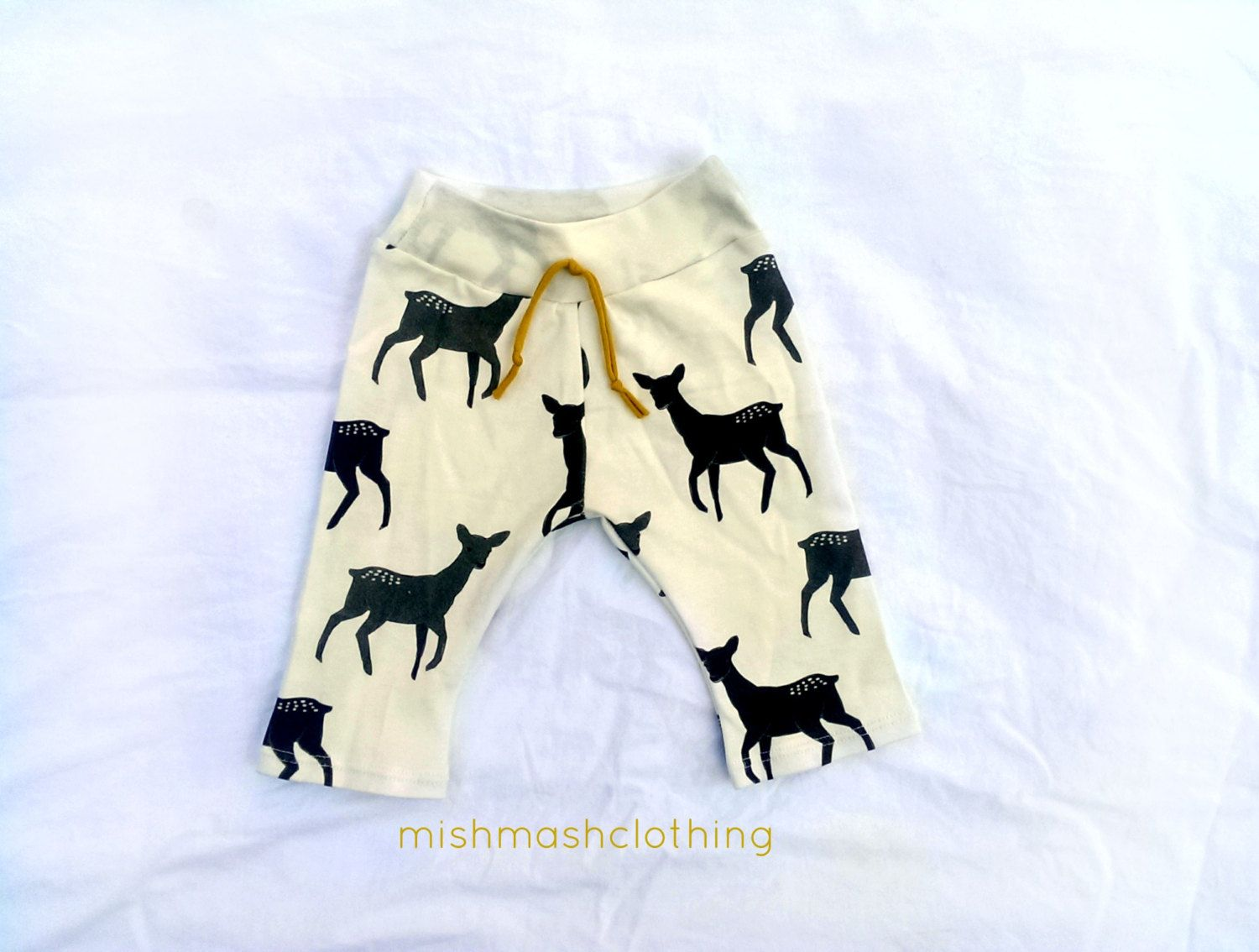 Organic Baby boy pants organic cotton deer door MishmashClothing