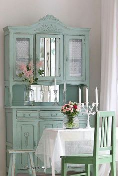Shabby chic mint pastell farben shabby chic for Vintage farben mobel