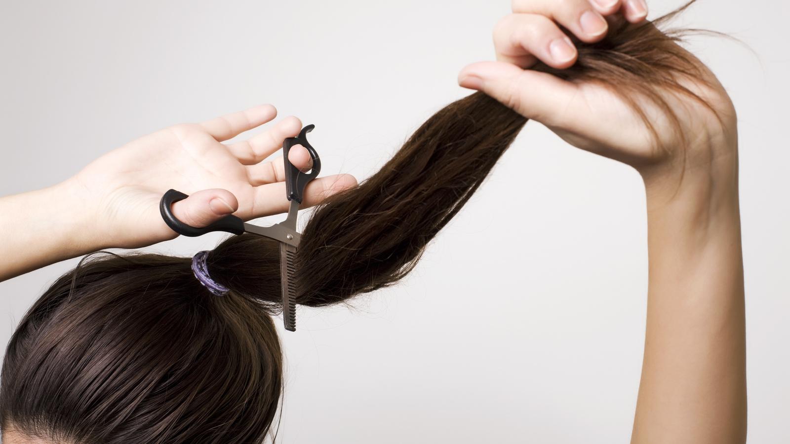 Stufenschnitt lange haare diy