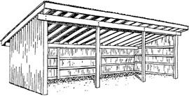 Horse shelter plans simple farm building do it yourself for Horse barn plans free