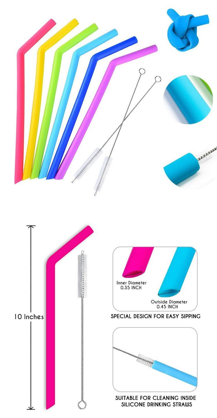 Reusable drinking straw silicone straw: More economic and