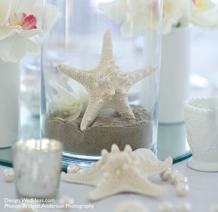 Knobby Starfish Table Decor In White Measures Inches In Diameter. Beach  Themed Weddings Need Starfish, Shells And Driftwood To Complete The Look.